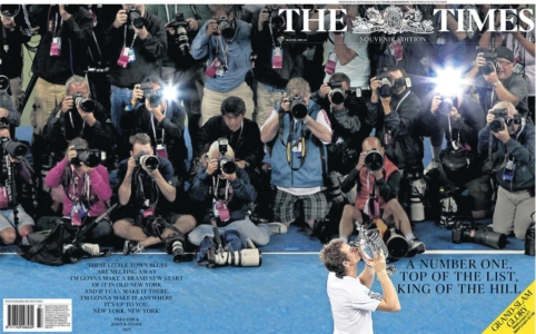 Scottish edition front page wrap as Andy Murray wins his first slam - Big Pictures (September 12th 2012)